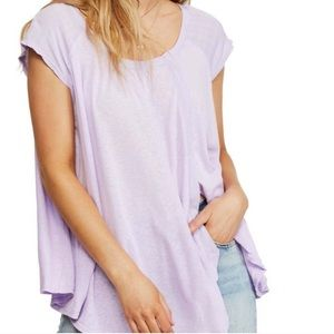 NWT Free People Keep It Casual Lilac T-shirt XS